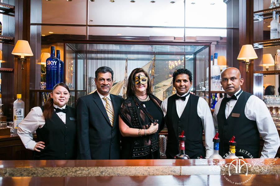 The Staff behind the Oak Bar