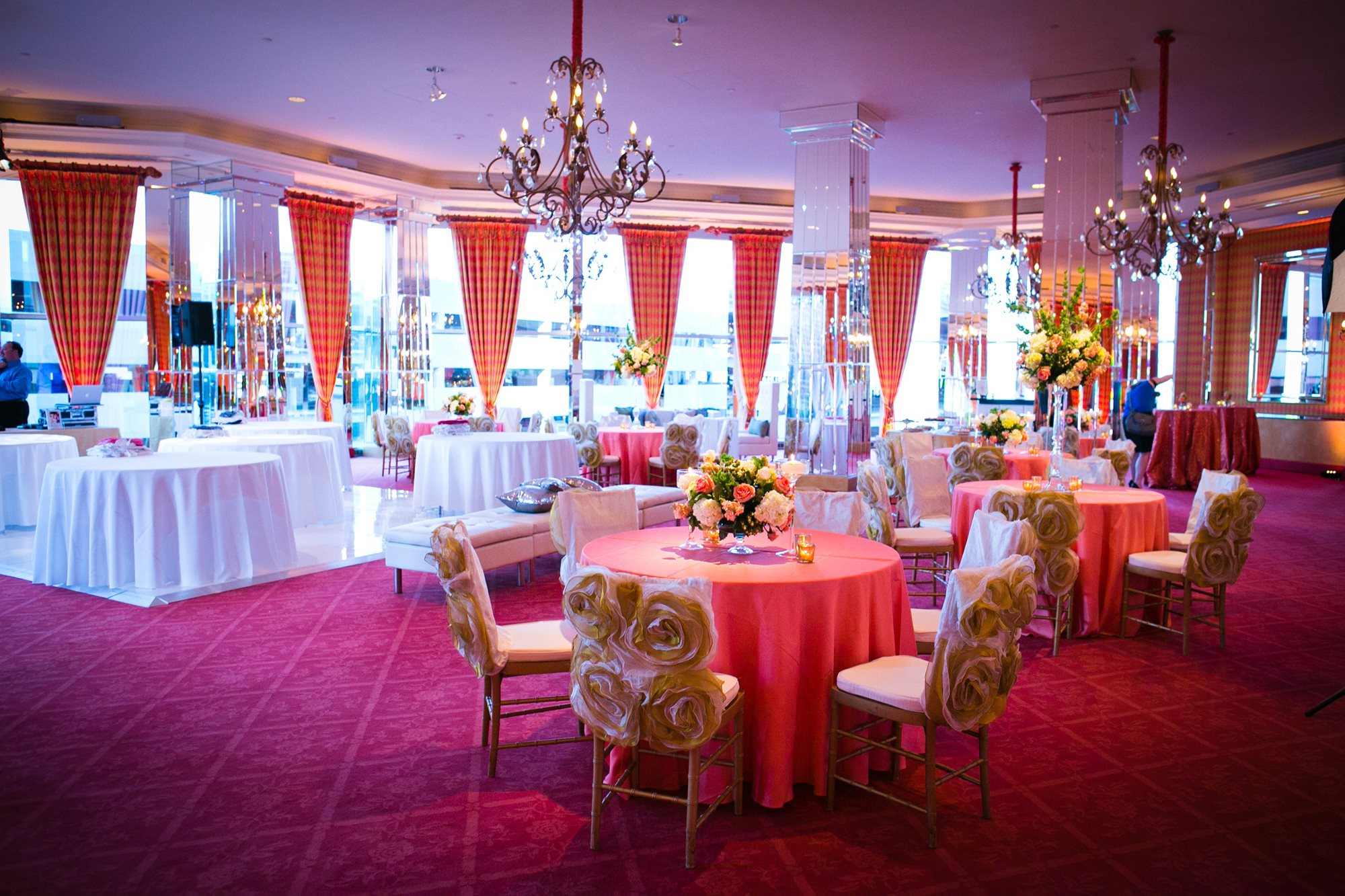 White/Pink/Gold Party Ballroom