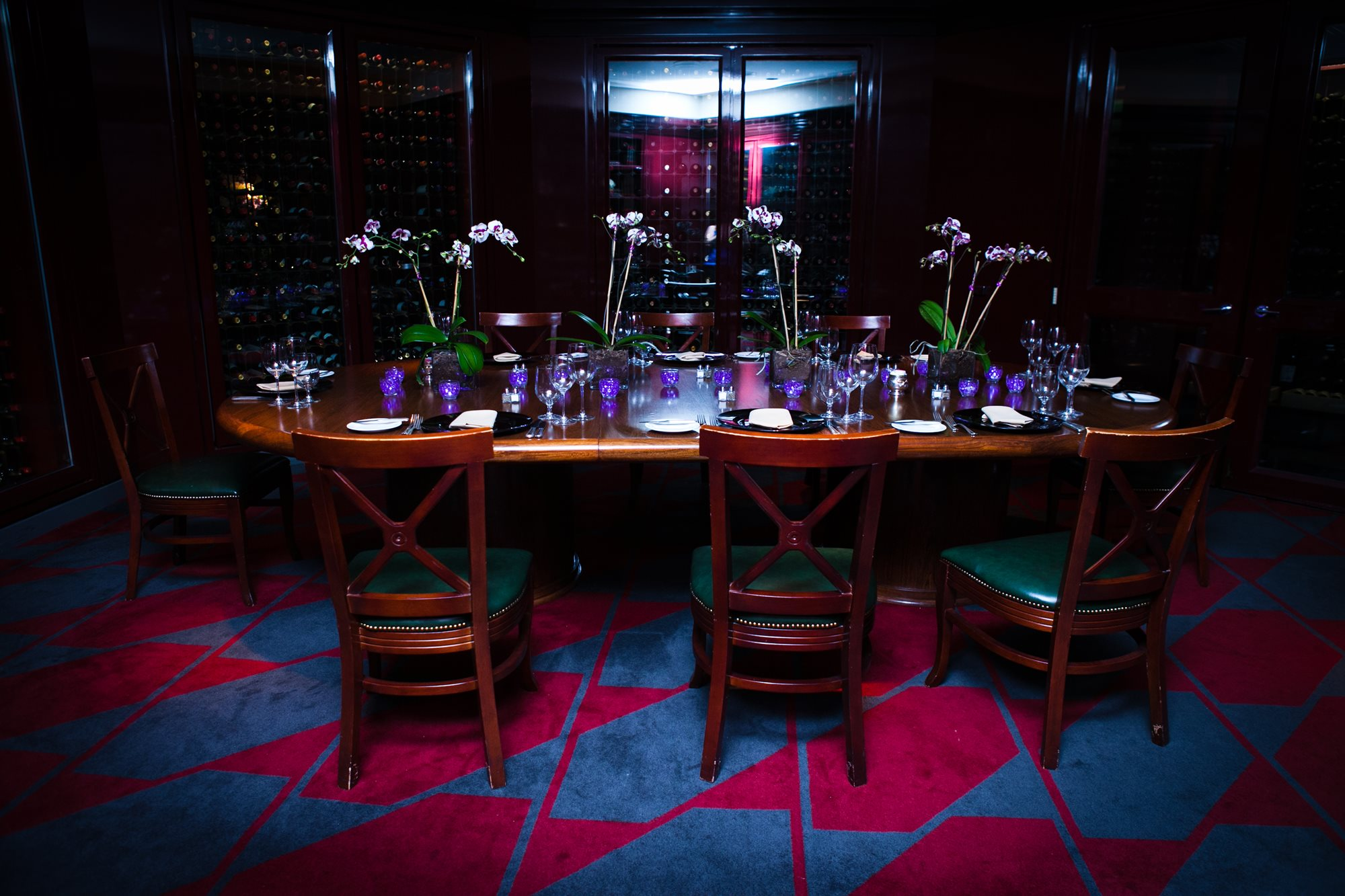 Private Dinner in the Wine Room/Purple votives